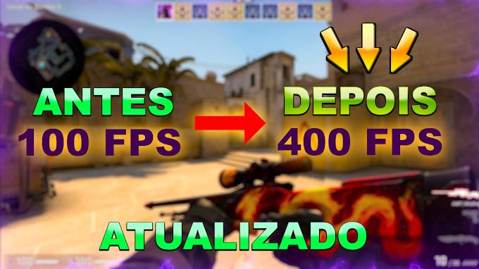 COMO AUMENTAR O FPS DRÁSTICAMENTE DO CS:GO - GANHE 100 FPS