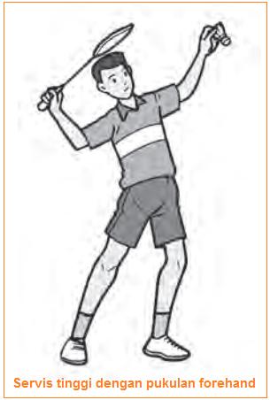 Servis tinggi dengan pukulan forehand - jenis pukulan servis bulutangkis