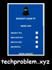APK Regedit Dark FF Aimbot Aimfov Aimlock Recoil Macro VIP Free Fire