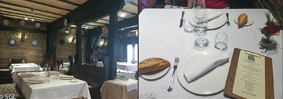 Comedor del Restaurante El Portalon. Comer en Vitoria