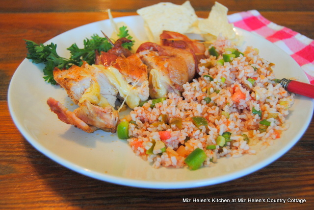 Grilled-Jalapeno Cheese Stuffed- Bacon Wrapped Chicken at Miz Helen's Country Cottage