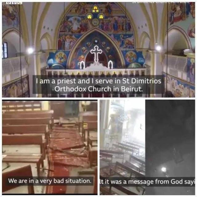 Beirut: Church Altar Survives Explosion Despite Being Less Than A Kilometer Away
