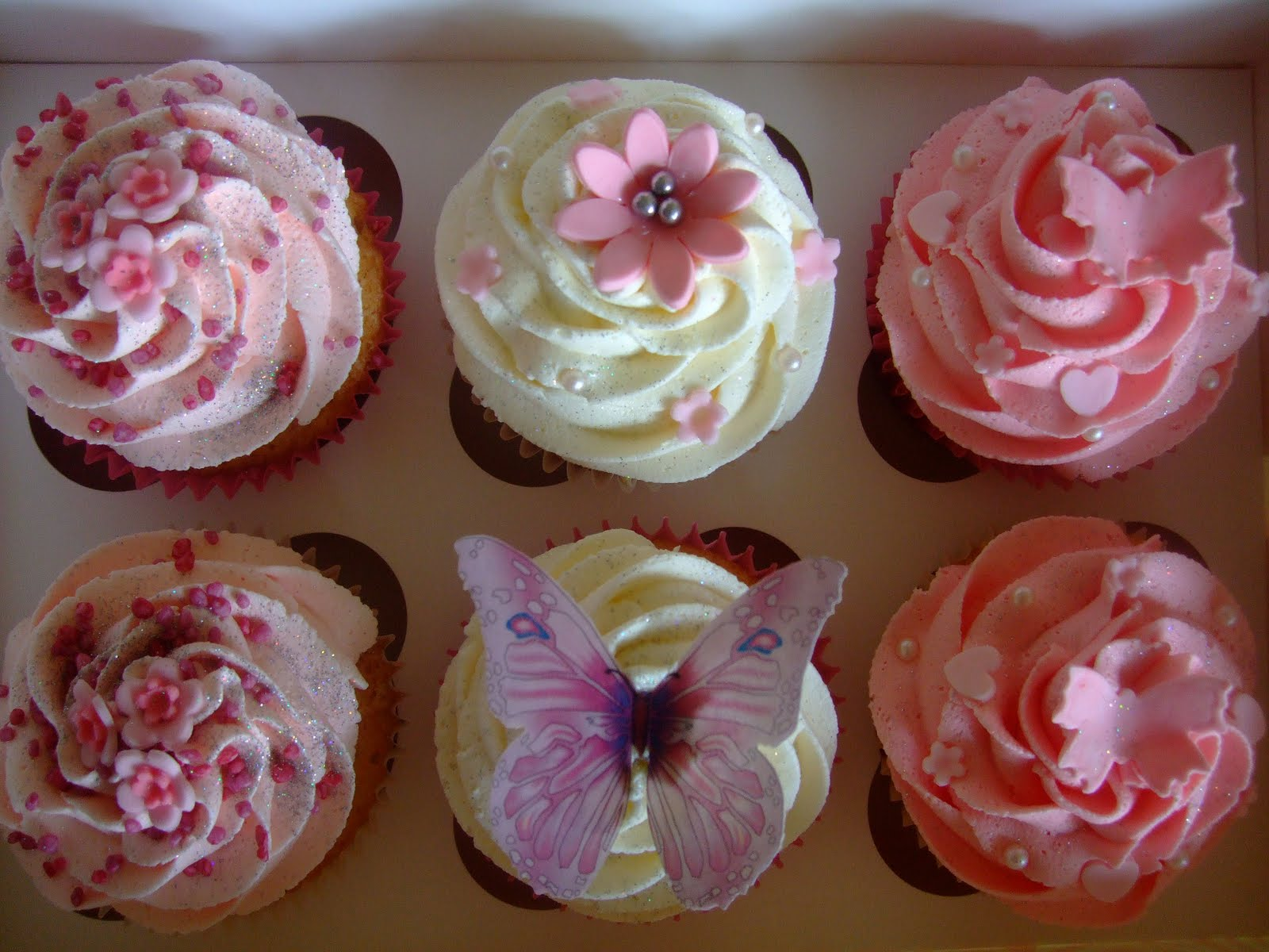 Pink And Girly Birthday Cupcakes