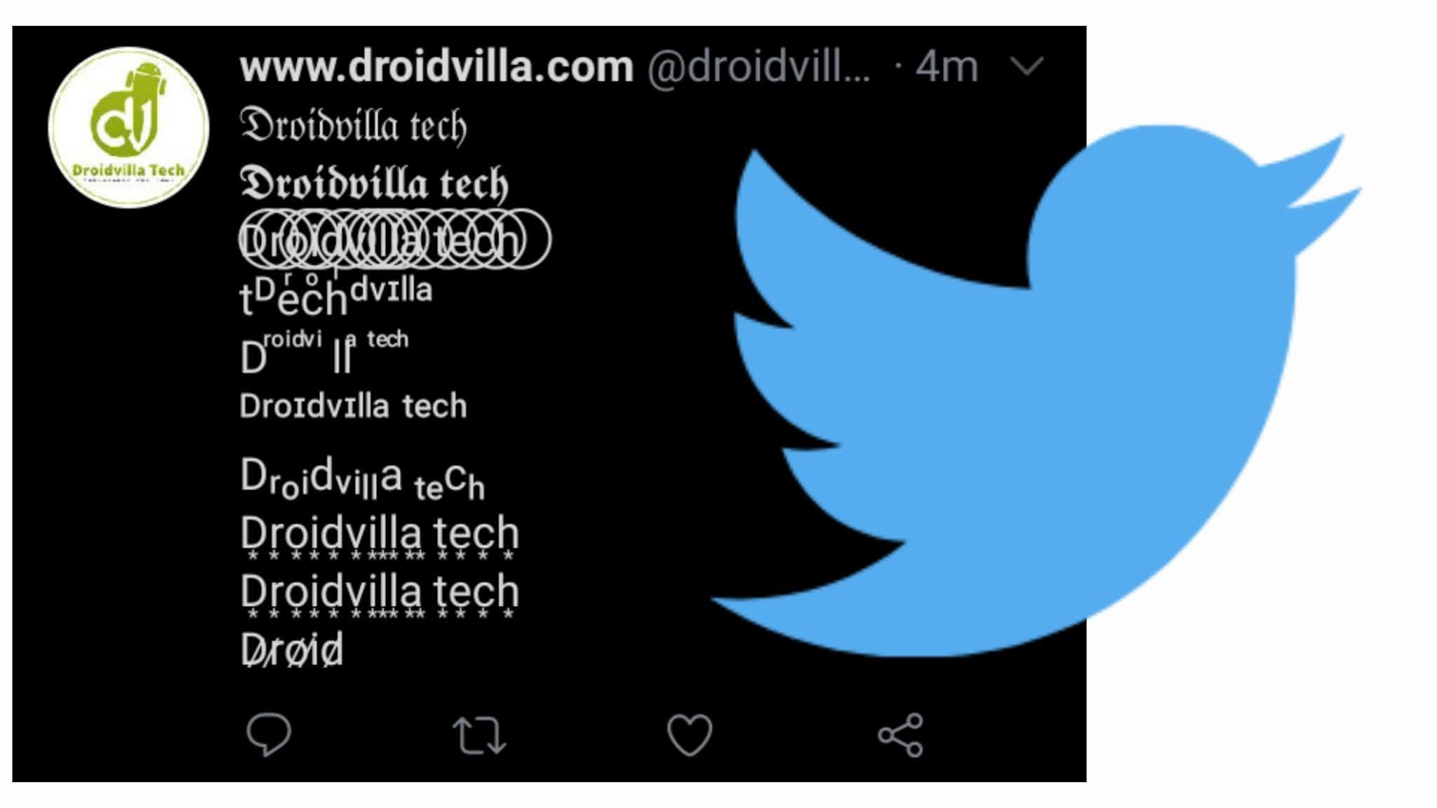 How To Bold Italics Stroke And Fancy Text In Twitter 2020 Droidvilla Technology Solution Android Apk Phone Reviews Technology Updates Tips Tricks Download all the files in the yytext subdirectory. droidvilla