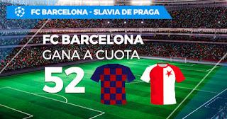 Paston Megacuota champions Barcelona vs Slavia de Praga 5-11-2019