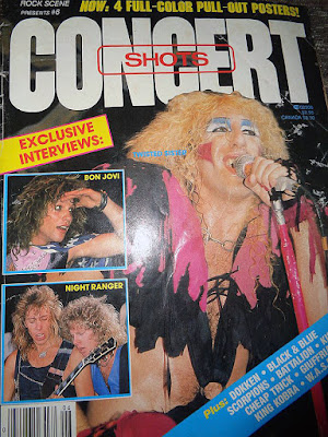 Dee Snider on the cover of Rock Scene Concert Shots magazine 1984