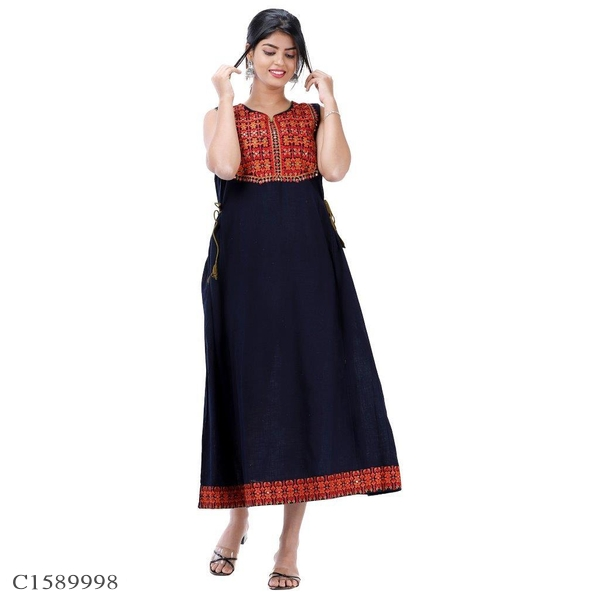 Adorable Cotton Blend Printed Gown Online Shopping | Gown Online Shopping | Gown Online | Online Shopping In India |