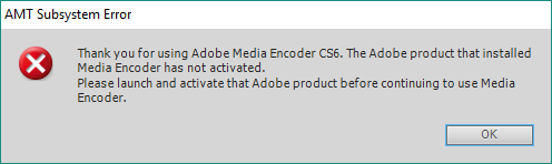 Mengatasi AMT Subsystem Error Adobe Media Encoder