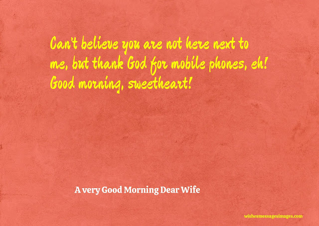 good morning wife