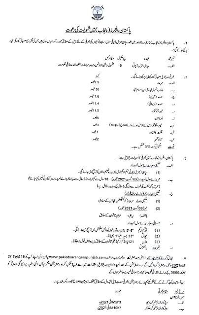 Latest Pakistan Rangers Punjab Jobs 2021    Punjab Rangers Jobs 2021