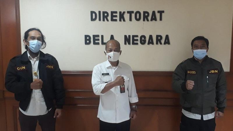 Pengurus Jurnalis Bela Negara Kunjungi Ditjen Pothan Kemhan RI