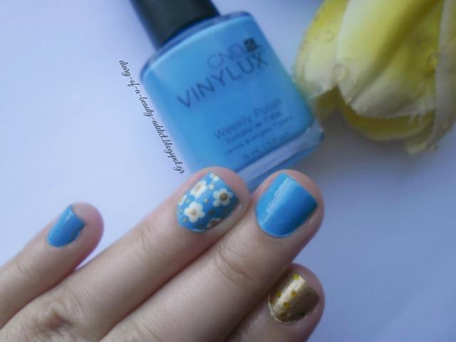 CND VINYLUX Digi-Teal : Spring Nail Art