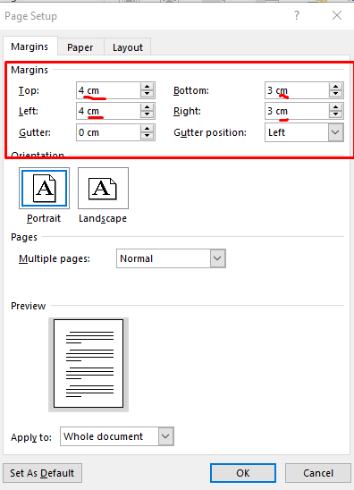 Margin Custom Ms Word