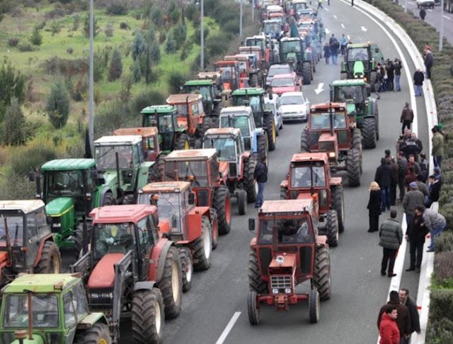 """Οι αγρότες """"ζεσταίνουν"""" τα τρακτέρ και στην Αγιά"""