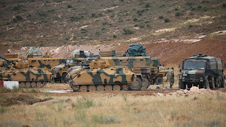 """Civilians"" hail Turkish deployment [invasion] in Syria's Idlib"
