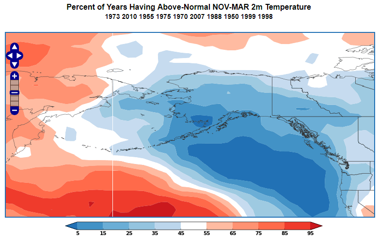 Another Aspect Of The La Nina Influence Is That The Flow Pattern And Associated Temperatures Tend To Be More Variable Than Normal Over Alaska So While The