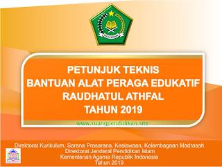 juknis bantuan APE madrasah ra 2019