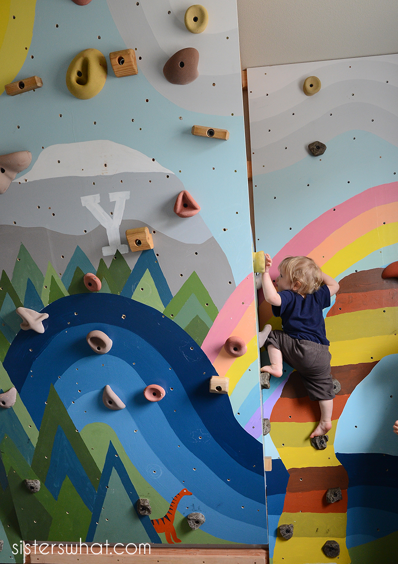 how to make a rock climbing wall