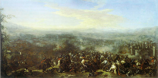 La Batalla de Nördlingen, por Jacques Courtois. Óleo sobre tela. - BELLUMARTIS HISTORIA MILITAR