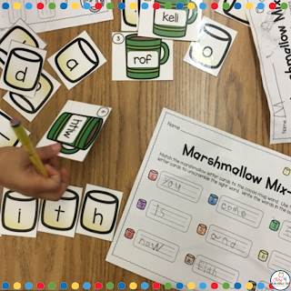 sight word activities for winter