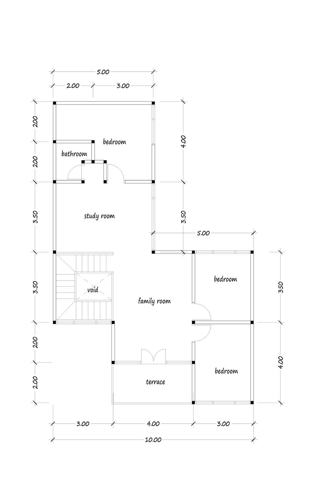Floor Plan Of 200 Square Meters 02
