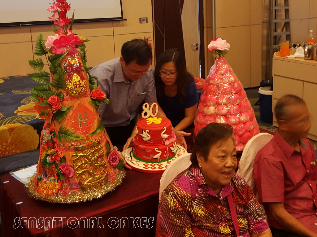 CAKE SINGAPORE 60TH BIRTHDAY TRADITIONAL CHINESE RED THEME