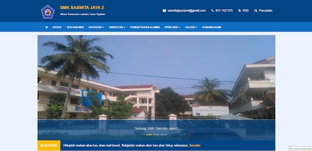 Tampilan Web Sekolah Plus PPDB