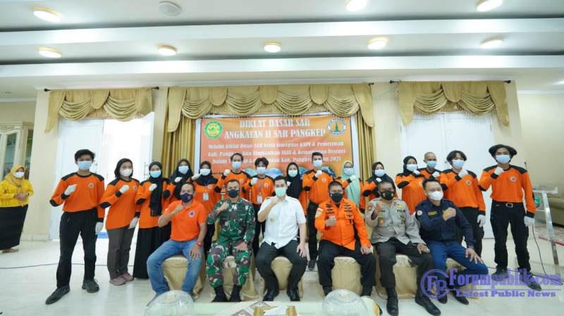 Hadiri Pembukaan Latihan Dasar SAR, Basarnas Sulsel Puji Dukungan Bupati Pangkep