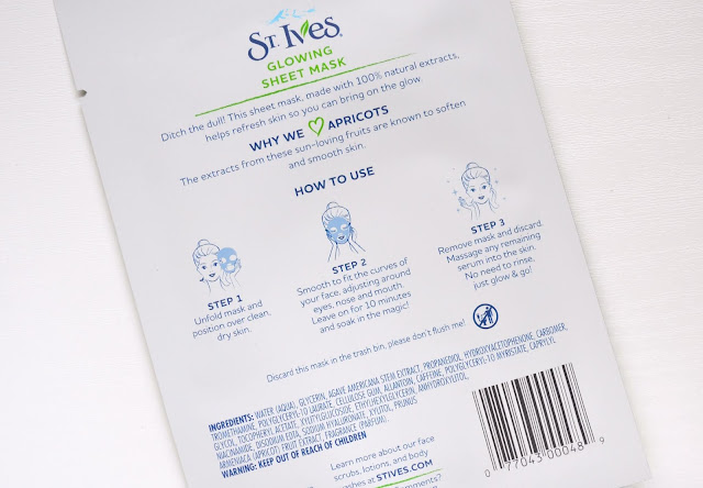 St.Ives Soothing Oatmeal and Glowing Apricot Sheet Mask
