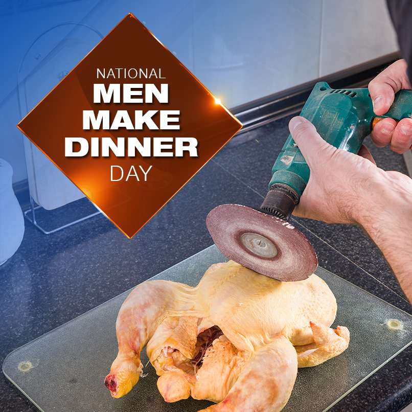 National Men Make Dinner Day Wishes Images