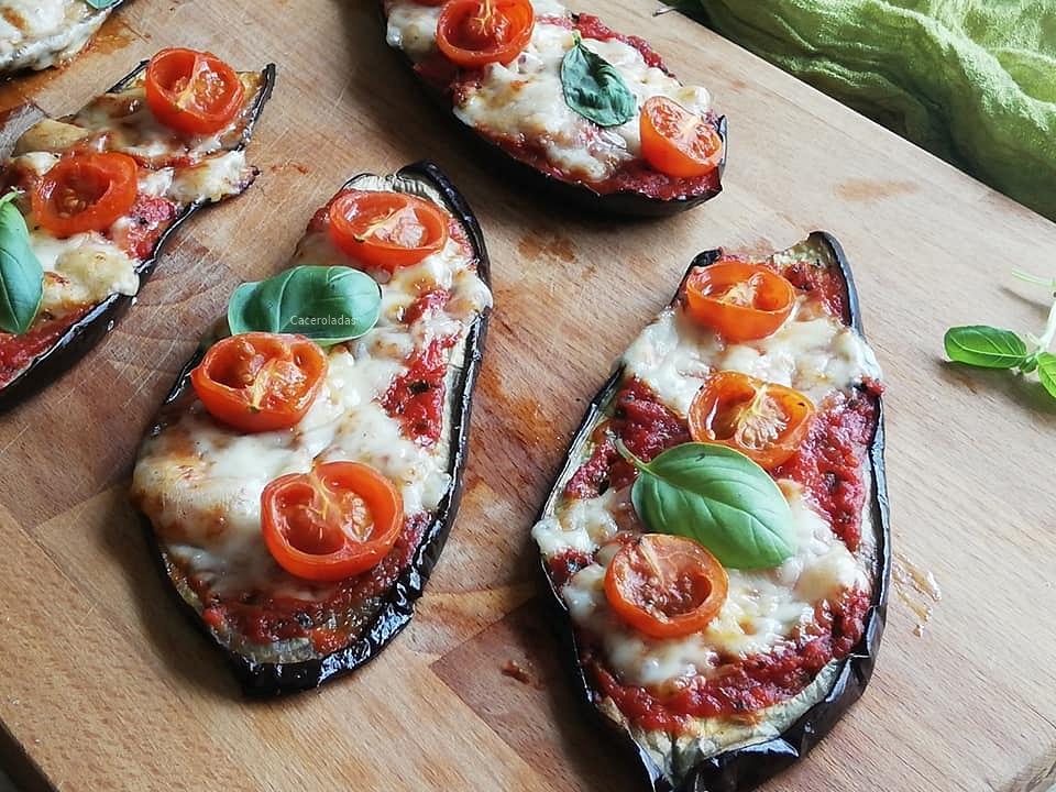 Como hacer pizzas con berenjenas