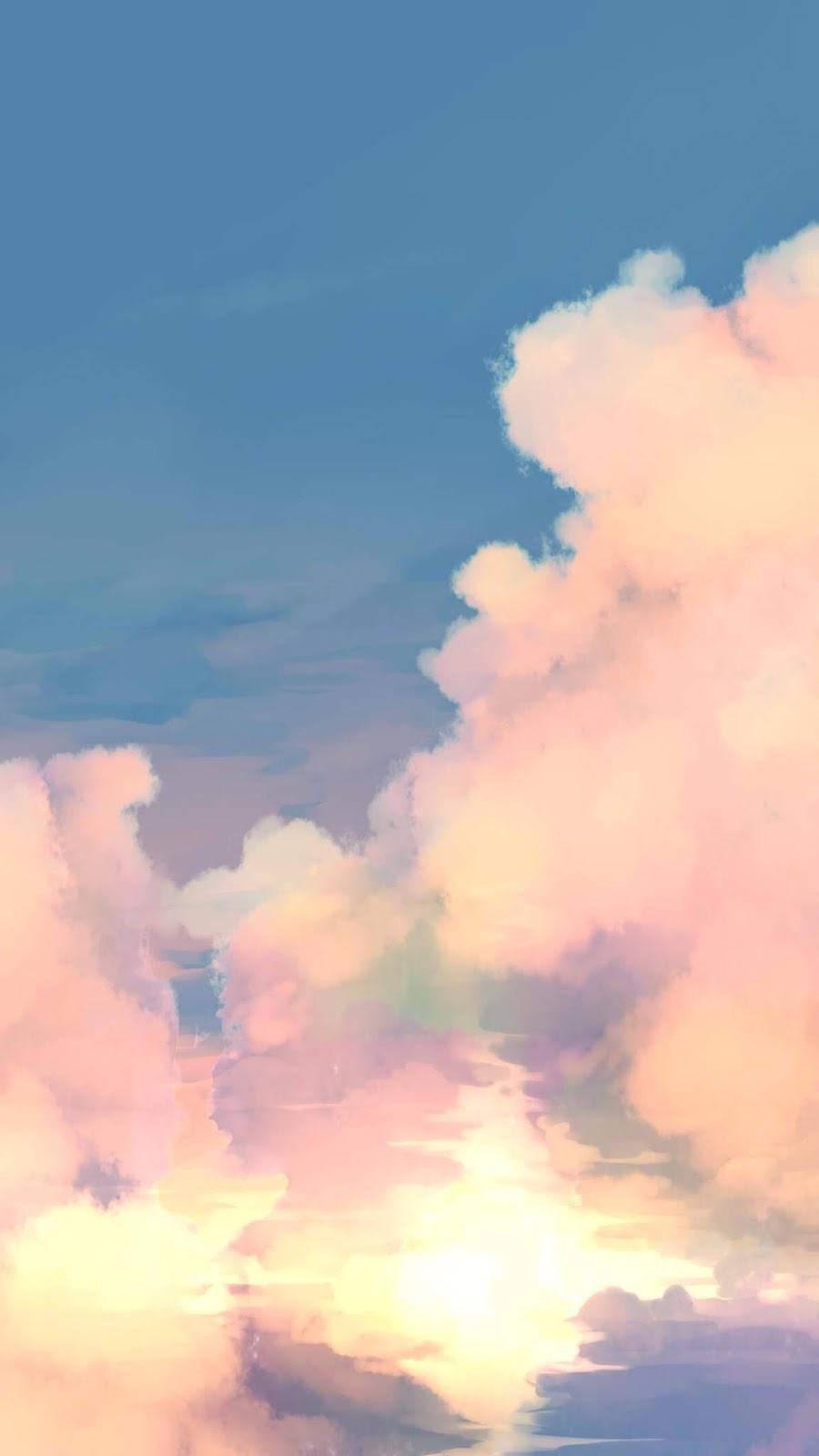Mây trên bầu trời xanh