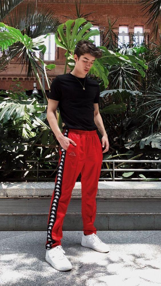Look Masculino com Calça Vermelha para Réveillon 2018 2019