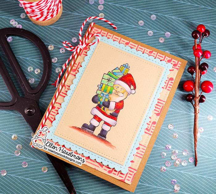 #newtonsnookdesigns #nnd #card #cardmaking #stamps #distress #ink #handmade #stamp #set #dies #Coloursoft  #pencils #card #blog #hop #2020 #winter #release #christmas #music #stencil #dear #santa #paperart #hobby #drawing #december #Framework #Die #Set