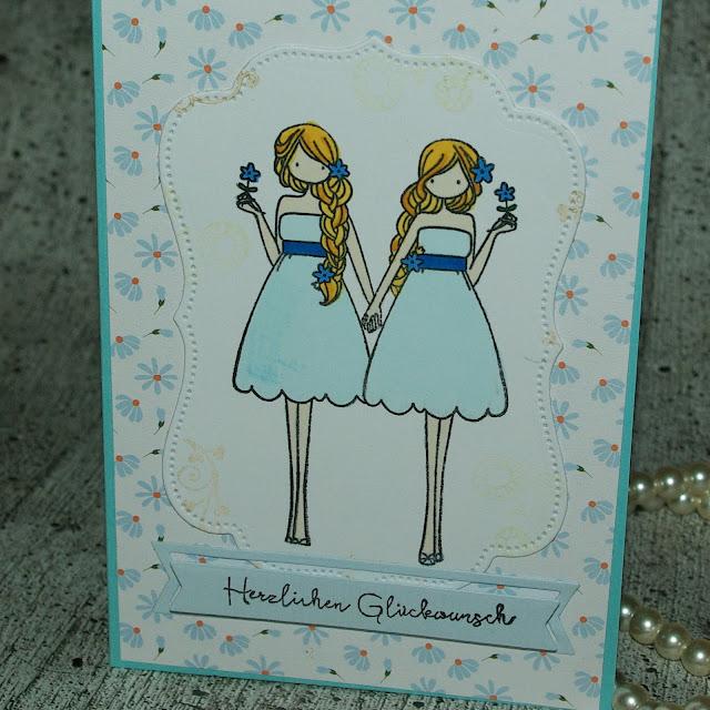 [DIY] Glückwunsch-Karte für Zwillinge  Birthdaycard for Twins
