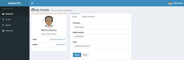 Admin Panel User Management Using CodeIgniter
