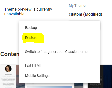 Blogger Theme Section Adding New Template Creating Backup