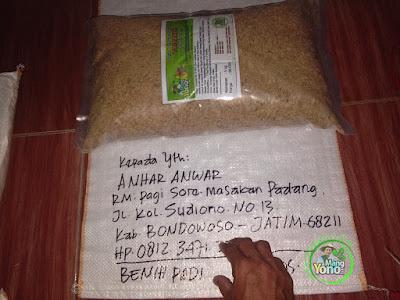Benih Padi TRISAKTI Pesanan   ANHAR ANWAR Bondowoso, Jatim.  (Sebelum di Packing)
