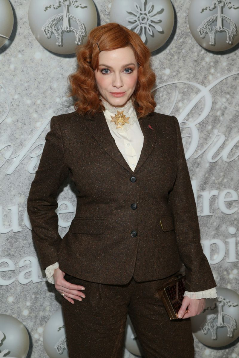 Christina Hendricks - Brooks Brothers Holiday Party