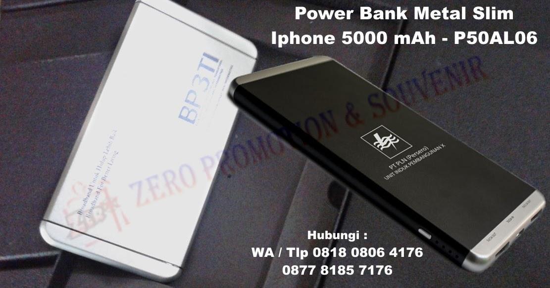 Jual Power Bank Metal Slim Iphone 5000 mAh - P50AL06