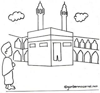 Gambar Sketsa Mewarnai Masjid Terbaru 201702