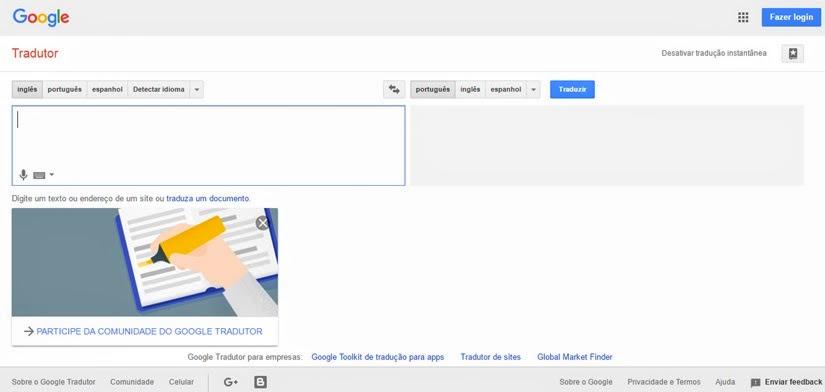 Sites e aplicativos para viajantes - Google Tradutor