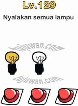 Solusi Nyalakan Semua Lampu Jawaban Brain Out di Level 129/128