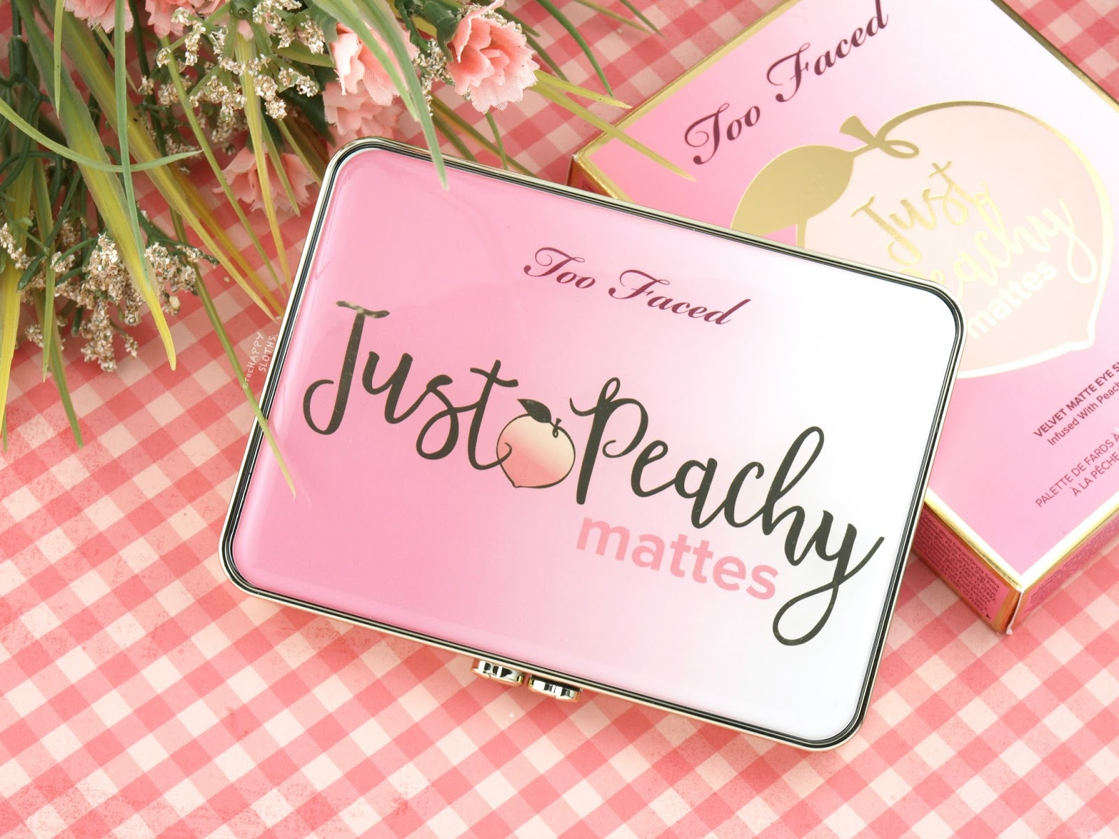Too Faced Peaches & Cream Collection | Just Peachy Mattes Eyeshadow Palette: Review and Swatches