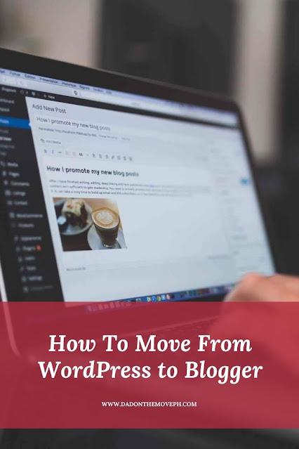 WordPress how to Blogger