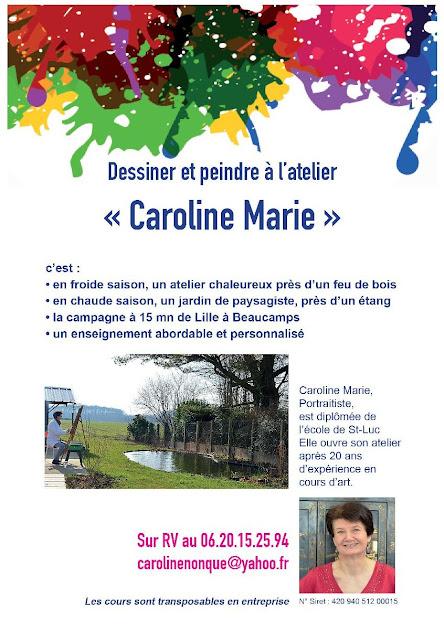 Flyer Caroline Nonque, illustrer son récit de vie ou une biographie