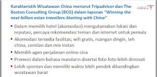 karakteristik wisatawan tiongkok
