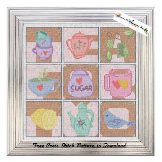 free full coverage cross stitch sampler tea cross stitch sampler free to download