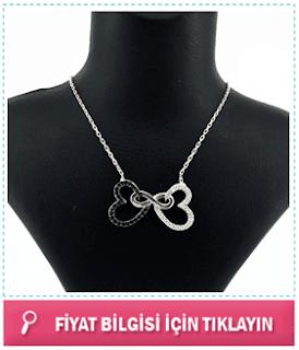 romantik gümüş kolyeler