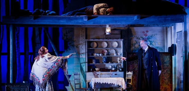 Grange Park Opera - La Fanciulla del West - Claire Rutter, Stephen Gadd - photo Robert Workman